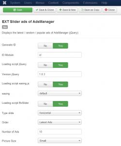 Модуль слайдера объявлений для AdsManager