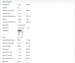 Универсальный модуль слайдера товаров для JoomShopping
