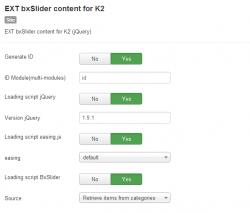 Модуль слайдера материалов для K2