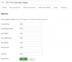 EXT Owl Сarousel Images module