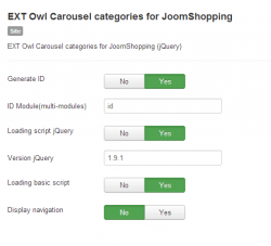 EXT Owl Carousel categories for JoomShopping module
