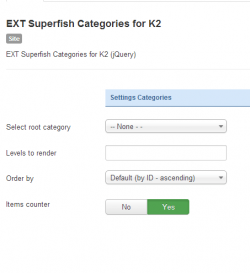 EXT Superfish Categories for K2 module
