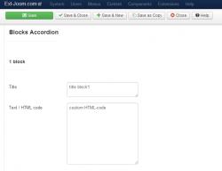 EXT Accordion custom HTML-code module